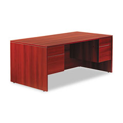 Adaptabilities Double Pedestal Desk, 72w x 36d x 29h, Avant Cherry