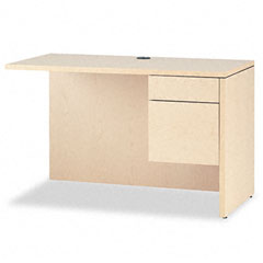 "10500 Series ""L"" Workstation Return, Right, 48w x 24d x 29-1/2h, Natural Maple - HON10515RDD"