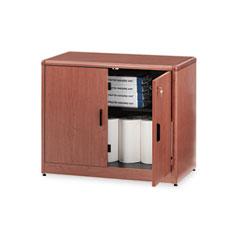 10700 Series Locking Storage Cabinet, 36w x 20d x 29-1/2h, Bourbon Cherry - HON107291HH
