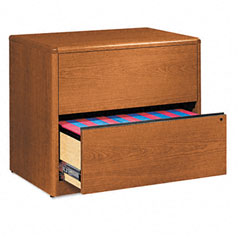 10700 Series Two-Drawer Lateral File, 36w x 20d x 29-1/2h, Bourbon Cherry - HON10762H