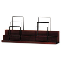 Announce Series Stack-On Organizer, Wood Veneer, 34 7/8 x 7 x 15 3/4, Mahogany