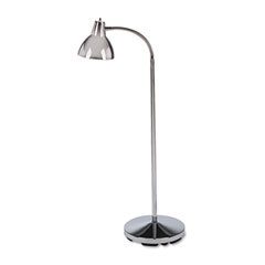 Classic Incandescent Exam Lamp, Three Prong, 74 Inch, Gooseneck, Stainless Steel