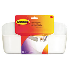 Wall Caddy with Command Strips, White