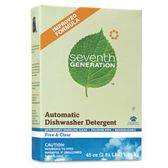 Free & Clear Automatic Dishwashing Powder, Non-Toxic, 45 oz. Box