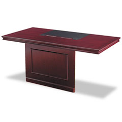 Astral Orion Double Pedestal Desk Top With Modesty Panel, 72w x 36d, Cherry