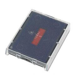 T5470 Dater Replacement Ink Pad, 1-5/8 x 2-1/2, Red/Blue