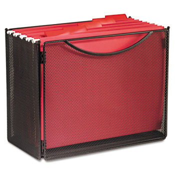 Portable File Box With Integrated Handles Features An Open Top For  Letter Size Hanging Files. Collapsible For Easy Storage When Not In Use.