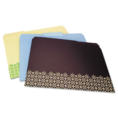 decorative folders letter assorted