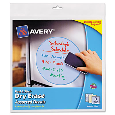 avery peel stick dry erase decals select office products