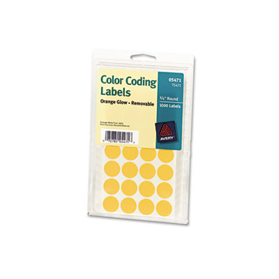 Print Or Write Removable Color Coding Labels 3 4in Dia Neon Orange 1008 Pack