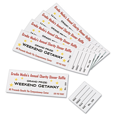 avery tickets with tear away stubs select office products
