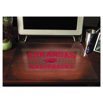Collegiate Desk Pad, U of Arkansas Razorbacks, Red/Black/White, Plastic, 19 x 24