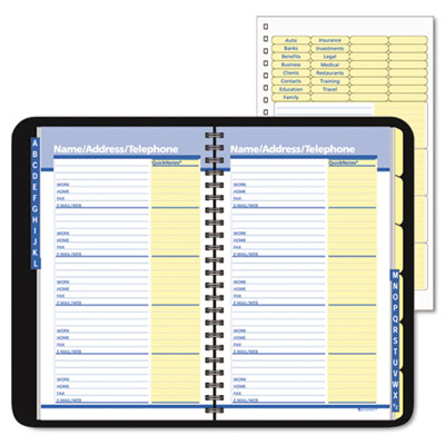 quicknotes recycled quicknumbers telephoneaddress book 4 78 x 8