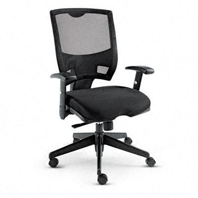 Epoch Series Mesh Mid-Back Swivel/Tilt Multifunctional Chair, Black