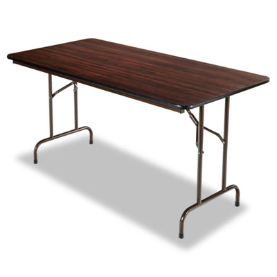 Folding Table, Rectangular, 60w x 30d x 29h, Walnut - ALEFT726030WA