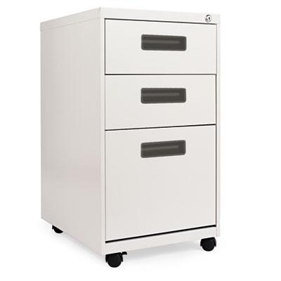 Three-Drawer Mobile Pedestal File, 15-7/8w x28-1/4h x19-3/4d, Light Gray