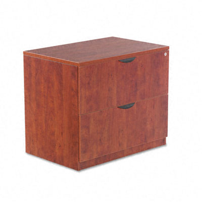 Valencia Series Two-Drawer Lateral File, 34w x 22 3/4d x 29 1/2h, Medium Cherry - ALEVA513622MC