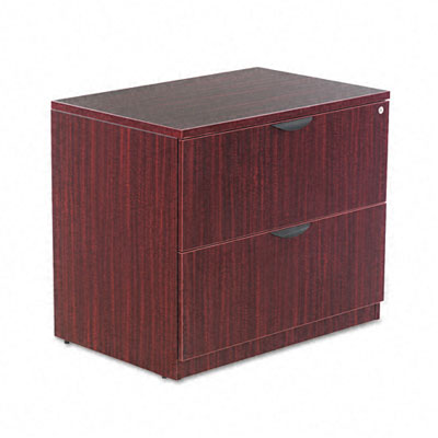 Valencia Series Two-Drawer Lateral File, 34w x 22 3/4d x 29 1/2h, Mahogany