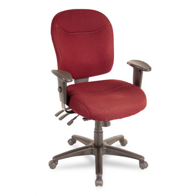 Wrigley Series High Performance Mid-Back Multifunction Chair, Burgundy