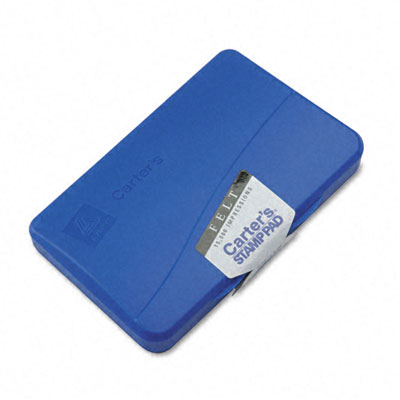 Felt Stamp Pad, 4.25w x 2.75d, Blue - AVE21061