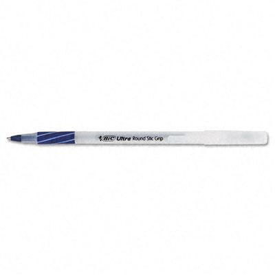 Ultra Round Stic Grip Pen, Blue Ink, Medium, 1.2 mm