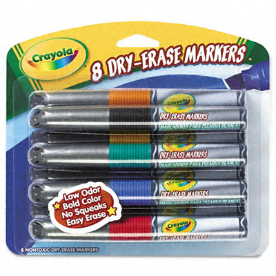 Crayola Dry Erase Markers Black Dry Erase Markers Chisel Tip