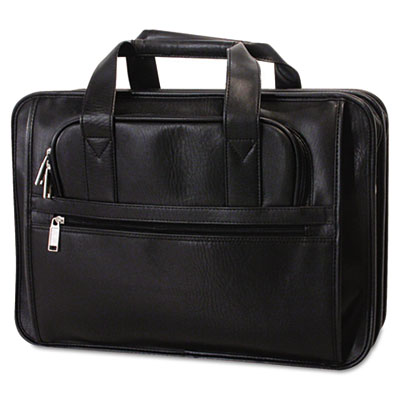 Soft-Sided Brief Bag, Koskin, 16-1/2 x 5 x 11, Black - BND459319BLK