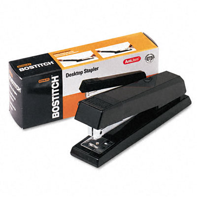 AntiJam Full Strip Stapler, 20 Sheet Capacity, Black