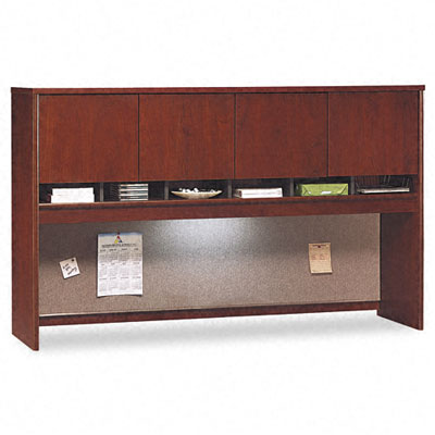 Series C Hutch w/Four Doors, 71w x 15-3/8d x 43h, Hansen Cherry - BSHWC24477