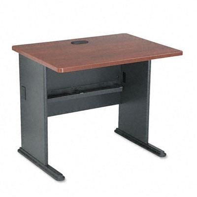 Series A Workstation Desk, 36w x 26-7/8d x 29-7/8h, Hansen Cherry/Galaxy
