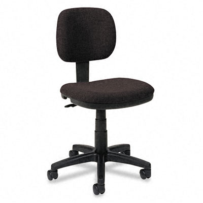 VL610 Series Swivel Task Chair, Black Fabric/Black Frame - BSXVL610VA10T