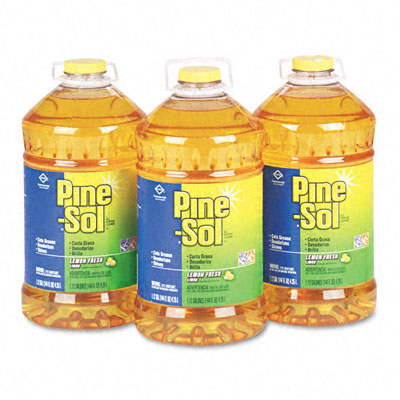 Pine-Sol All-Purpose Cleaner, Lemon Scent, 144 oz. Bottle, 3/Carton