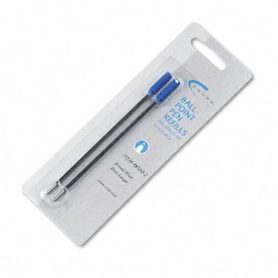 Refill for Cross Ballpoint Pens, Broad, Blue Ink, 2/Pack