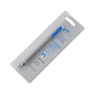 Refill for Selectip Porous Point Pens, Fine, Blue Ink