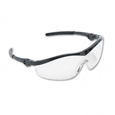 Storm Wraparound Safety Glasses, Black Nylon Frame, Clear Lens - CRWST110