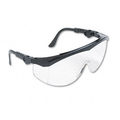 Tomahawk Wraparound Safety Glasses, Black Nylon Frame, Clear Lens - CRWTK110