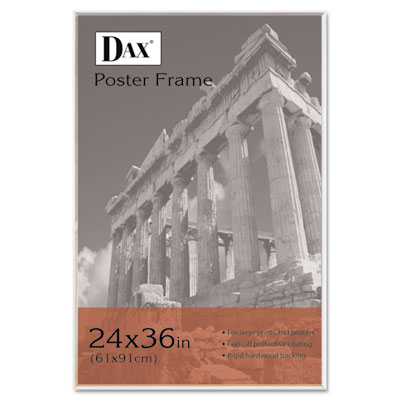 Clear Channel Poster Frame, Contemporary w/Plexiglas Window, 24 x 36, Clear - DAX281136T