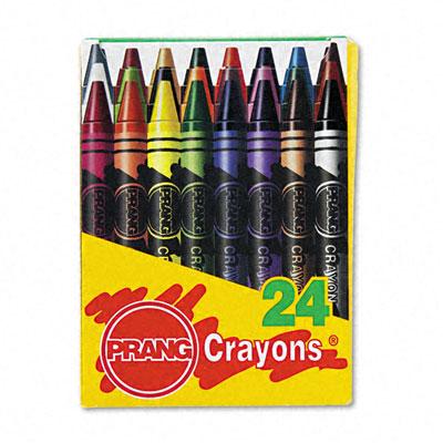 Wax Crayons, 24 Colors/Box