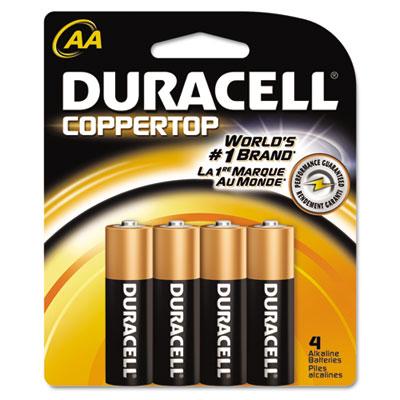 Coppertop Alkaline Batteries, AA, 4/Pack