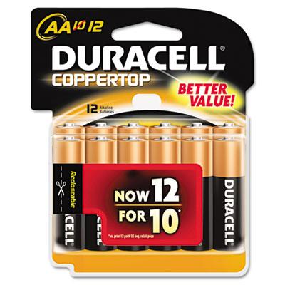 Coppertop Alkaline Batteries, AA, 12/Pack
