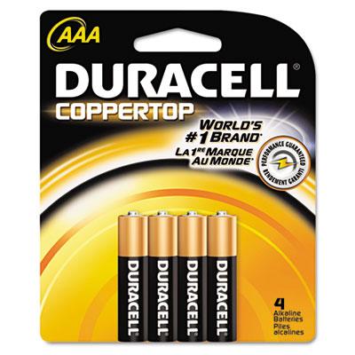 Coppertop Alkaline Batteries, AAA, 4/Pack