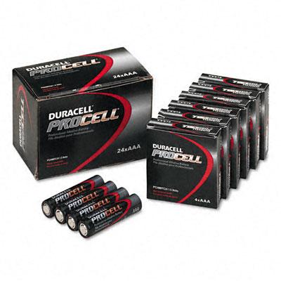Procell Alkaline Battery, AAA, 24/Box - DURPC2400BKD