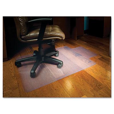 Chair Mat for Hard Floors, Lip, 45w x 53l, Clear