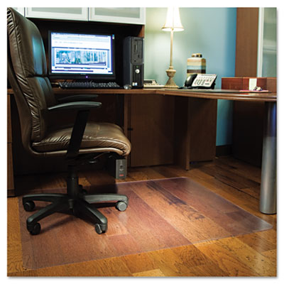 Chair Mat for Hard Floors, Rectangle, 46w x 60l, Clear