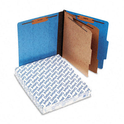 Pressguard Classification Folders, Letter, 6-Section, Light Blue, 10/Box - ESS1257LB