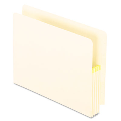 "Convertible File, Straight Cut, End/Top Tab, 3 1/2"" Expan, Ltr, Manila, 25/Box - ESS12832"