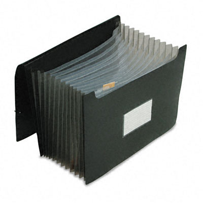 Jumbo 12 in Expansion File, 13 Pockets, Poly, Letter, Black