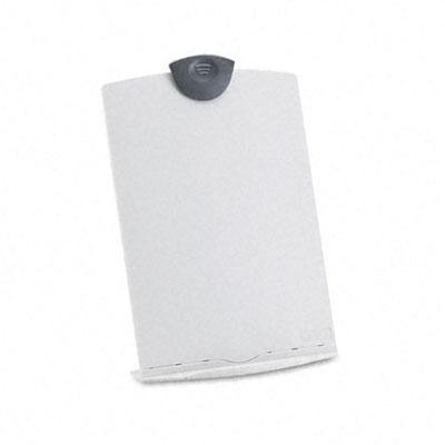 Freestanding Desktop Copy Stand/Clipboard, Plastic, 75 Sheet Capacity, Platinum