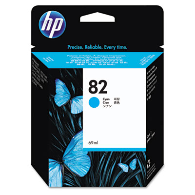 C4911A (HP 82) Ink, 1400 Page-Yield, Cyan-HEWC4911A