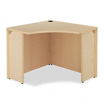 10500 Series Curved Corner Workstation, 18w x 36d x 36d x 29-1/2h, Natural Maple